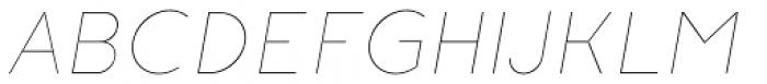 Etalon Thin Italic Font UPPERCASE