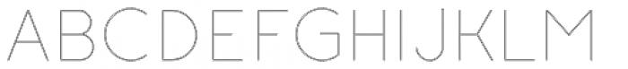 Etalon Thin Stroked Font UPPERCASE