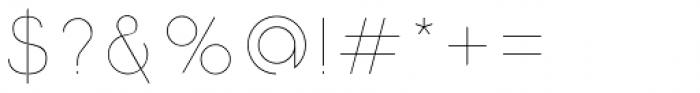 Etalon Thin Font OTHER CHARS
