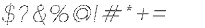 Etalon UltraLight Italic Stroked Font OTHER CHARS