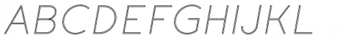 Etalon UltraLight Italic Stroked Font UPPERCASE