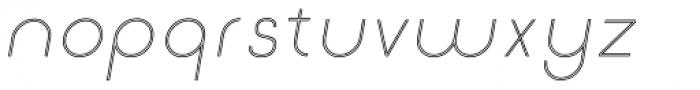 Etalon UltraLight Italic Stroked Font LOWERCASE
