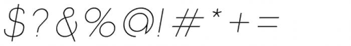 Etalon UltraLight Italic Font OTHER CHARS