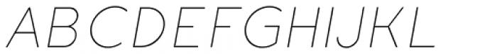 Etalon UltraLight Italic Font UPPERCASE