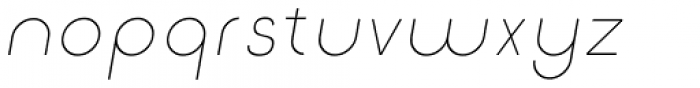 Etalon UltraLight Italic Font LOWERCASE