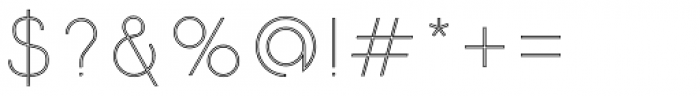 Etalon UltraLight Stroked Font OTHER CHARS