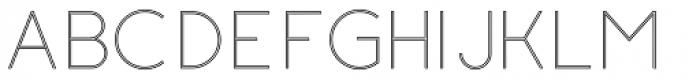 Etalon UltraLight Stroked Font UPPERCASE