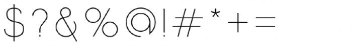 Etalon UltraLight Font OTHER CHARS