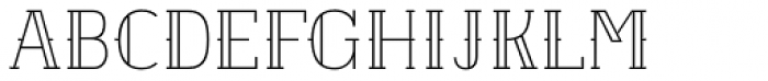 Etch Closed Font UPPERCASE