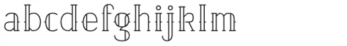Etch Closed Font LOWERCASE