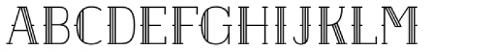 Etch Lined Font UPPERCASE