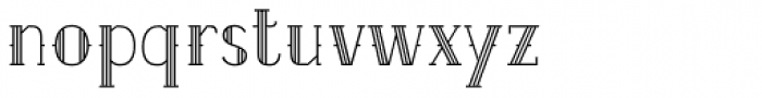 Etch Lined Font LOWERCASE