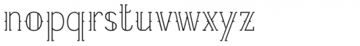 Etch Opened Font LOWERCASE