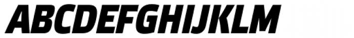 Etelka Narrow Medium Pro Bold Italic Font UPPERCASE