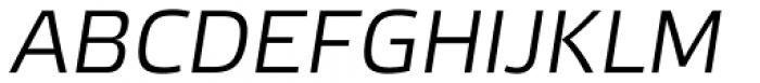 Etelka Sans Light Italic Font UPPERCASE