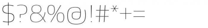 Etelka Sans Thin Font OTHER CHARS