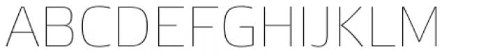Etelka Sans Thin Font UPPERCASE