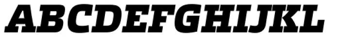 Etelka Slab Black Italic Font UPPERCASE