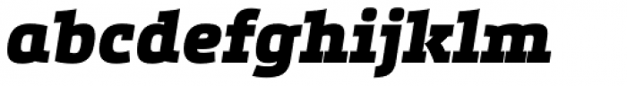 Etelka Slab Black Italic Font LOWERCASE