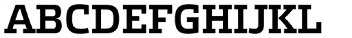 Etelka Slab Medium Font UPPERCASE