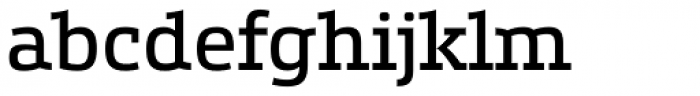 Etelka Slab Regular Font LOWERCASE