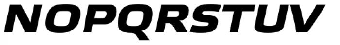 Etelka Wide Medium Pro Bold Italic Font UPPERCASE