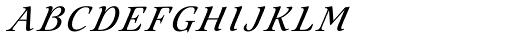 Eterea Calligraphic Caps Italic Font LOWERCASE