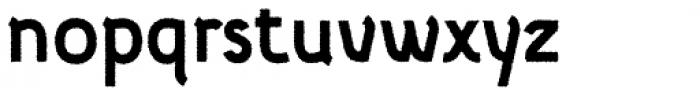 Etewut Sans Bold Rough Font LOWERCASE