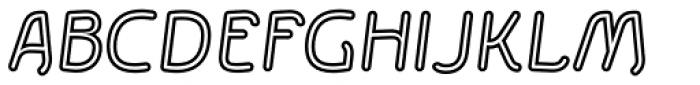 Etewut Sans Italic Rounded Stroked Font UPPERCASE