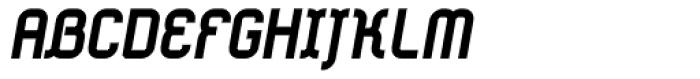 Ether Bold Slant Font UPPERCASE