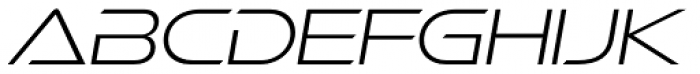 Ethnocentric ExtraLight Italic Font UPPERCASE