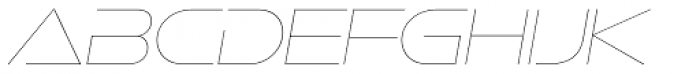 Ethnocentric UltraLight Italic Font UPPERCASE