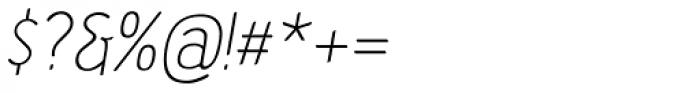 Etho Italic Font OTHER CHARS