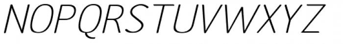 Etho Wide Italic Font UPPERCASE