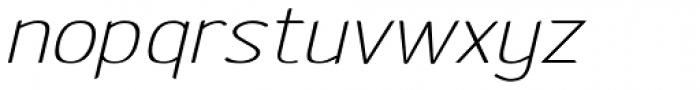 Etho Wide Italic Font LOWERCASE