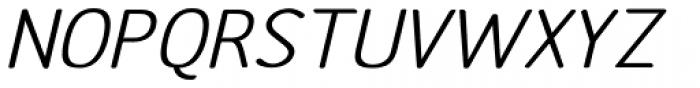 Etho Wide SemiBold Italic Font UPPERCASE