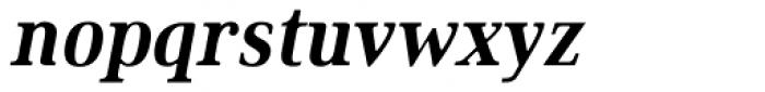 Ethos Condensed Bold Italic Font LOWERCASE