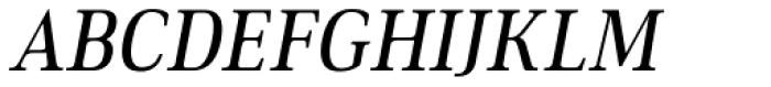 Ethos Condensed Regular Italic Font UPPERCASE