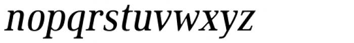 Ethos Condensed Regular Italic Font LOWERCASE