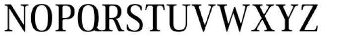 Ethos Condensed Regular Font UPPERCASE