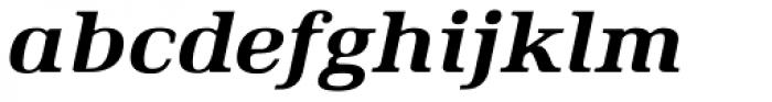 Ethos Expanded Heavy Italic Font LOWERCASE