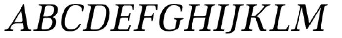Ethos Regular Italic Font UPPERCASE