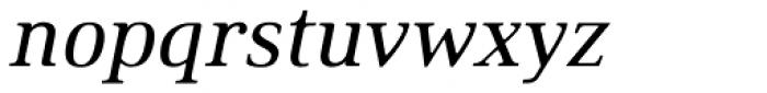Ethos Regular Italic Font LOWERCASE