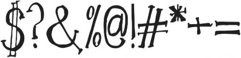 EucalyptusTree otf (400) Font OTHER CHARS