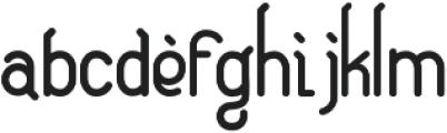 Eugiene otf (400) Font LOWERCASE