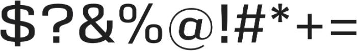 Eurocine otf (400) Font OTHER CHARS