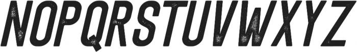 Eusthalia Sans Slant Stamped otf (400) Font UPPERCASE