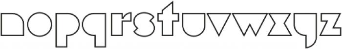 Eutopia Outline otf (400) Font LOWERCASE