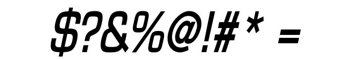 Eurasia Condensed BoldItalic Font OTHER CHARS