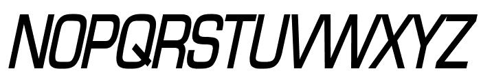 Eurasia Condensed BoldItalic Font UPPERCASE